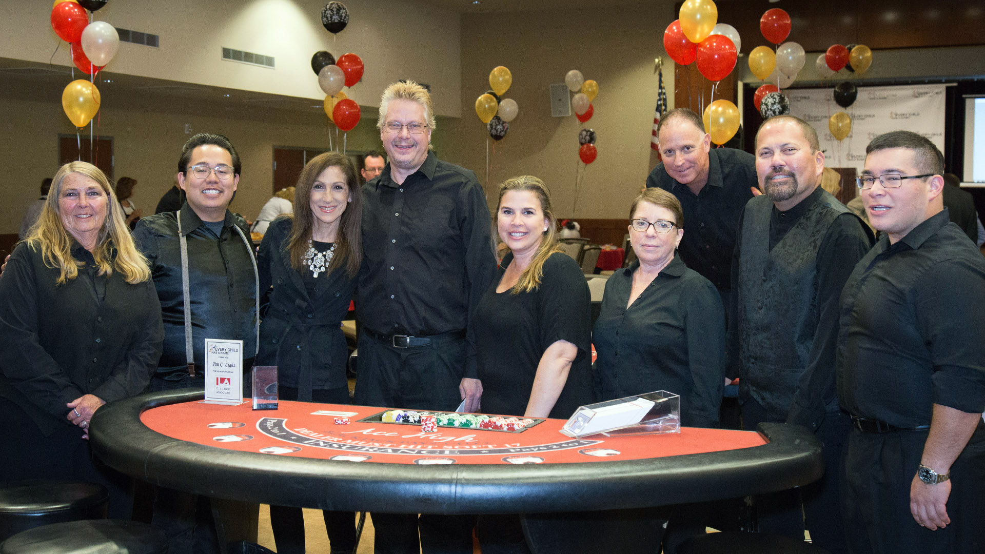 Ace High Casino Dealers at Newport fundraiser