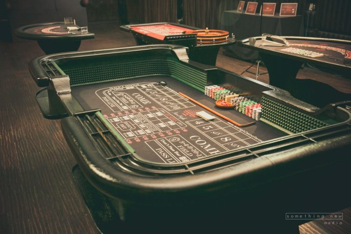Ace High craps casino table rental at Beso Hollywood