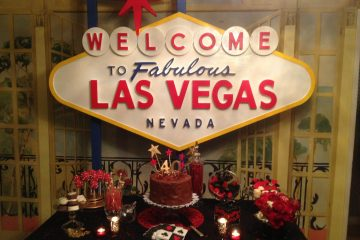 Ace High Casino Rentals - Birthday Party featuring Welcome to Las Vegas sign